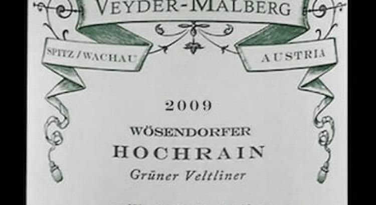 Veyder-Malberg Grüner Veltliner Hochrain 2009