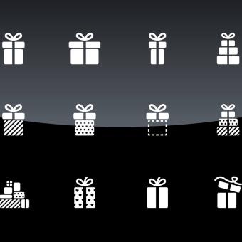 Weihnachtspakete zum Schenken und Trinken