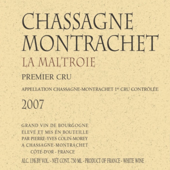 Pierre-Yves Colin-Morey Chassagne-Montrachet la Maltroie 2007
