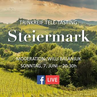 Sonntag 7 Juni: Tele-Tasting 'Steiermark'
