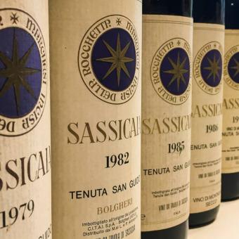 Sassicaia im Laufe der Zeit