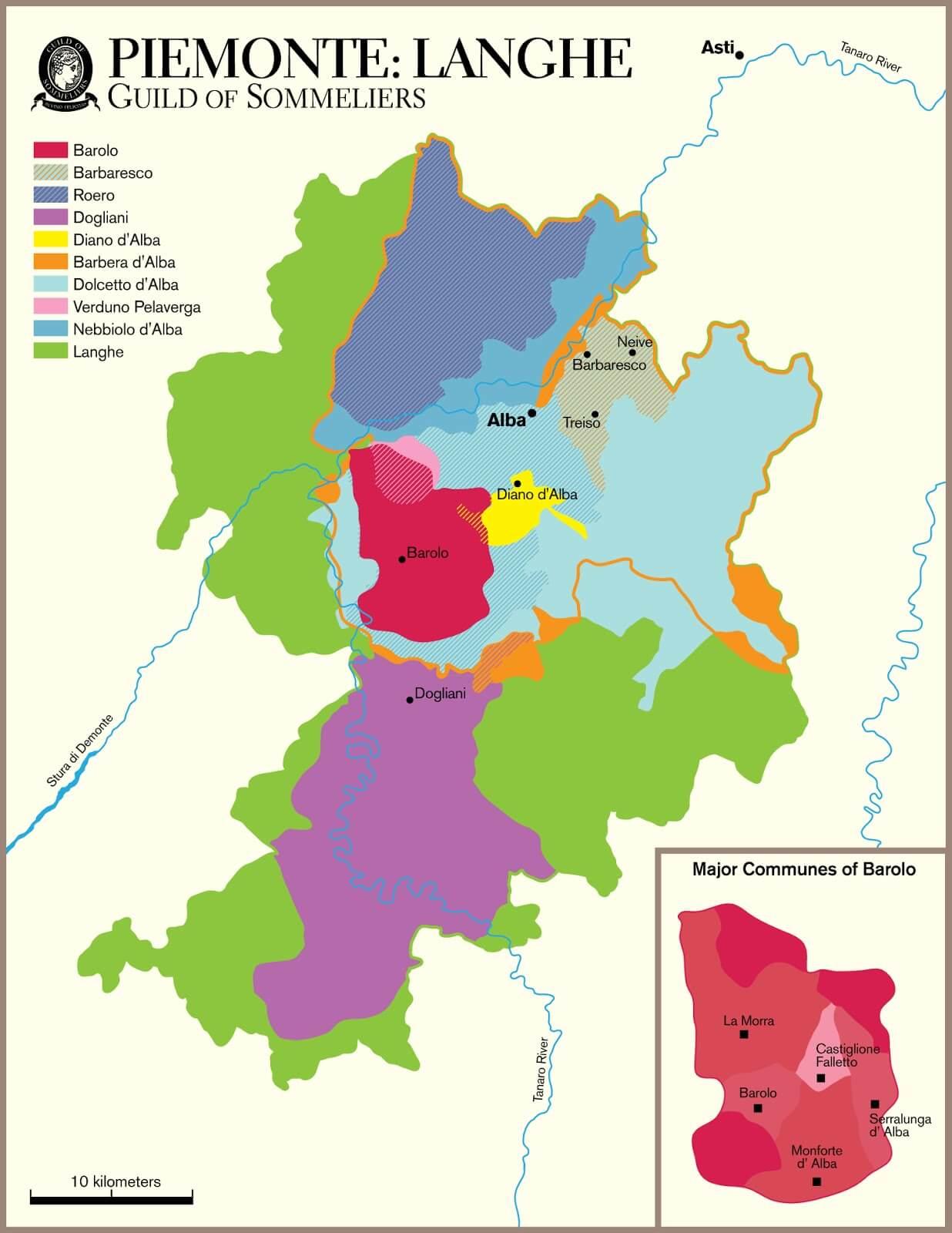 Piemont Weinbau Karte.Trinkreife Weine Aus Dem Piemont Jetzt Bestellen